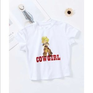 SHEIN Cowgirl Graphic Tee